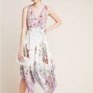 Analise Floral Midi Anthropologie Dress NWTs